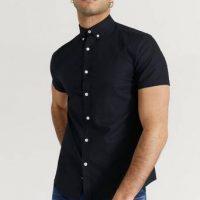 Studio Total Skjorte Melker Short Sleeve Shirt Svart