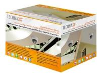 Technaxx Dome Camera for Kit PRO TX-50 and TX-51 - Overvåkingskamera - kuppel - utendørs - støvsikker / vanntett / vandalsikker - farge (Dag og natt) - 2,4 MP - 1980 x 1225 - 720p, 1080p - motorisert - HD-CVI - DC 12 V