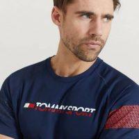 Tommy Hilfiger T-Shirt Glow Performance Tee Blå