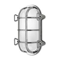 Tortuga 200.21 vegglampe, oval, nikkel/opal