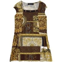 Versace Heritage Print Kjole Brun 6 år