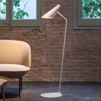 Vibia I.Cono 0712 designer-gulvlampe, hvit