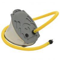vidaXL Fotpumpe 21x29,5 cm PP og PE grå og gul