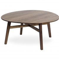 Andersen C1 Sofabord Rund Laminat Topp 102 x 90 x H45 cm-Eik Hvit Matt-Pale Olive
