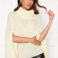 BUBBLEROOM Vanna knitted poncho Cream XS