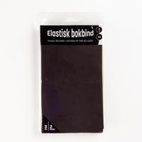 Bokbind elastisk 3pk sort og grå