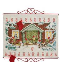 Broderipakke Kalender Julenisser på besøk