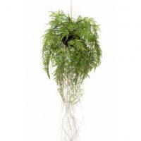 Emerald Kunstig hengende bregne med røtter 35 cm