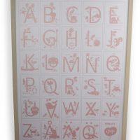 FORM Living Tavle Alfabet, Rosa