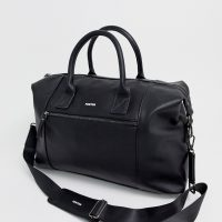 Fenton side zip holdall in black