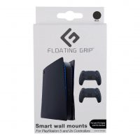 Floating Grip Playstation 5 Wall Mounts by Floating Grip - Black Bundle