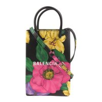 Floral Shopping Telefon Holder Skinnveske