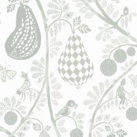 Littlephant Tapet Fruit Garden, Hvit/Grønn