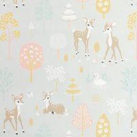 Majvillan Tapet Golden Woods, Soft Grey