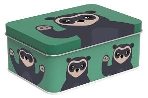 Matboks Brillebjørn mørk grønn