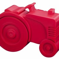 Matboks i plast Traktor rød