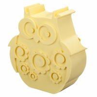 Matboks i plast Ugle lys gul