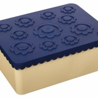 Matboks i plast treroms Blomst mørk blå