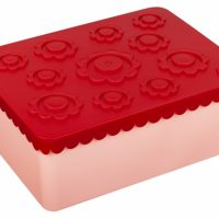 Matboks i plast treroms Blomst rød