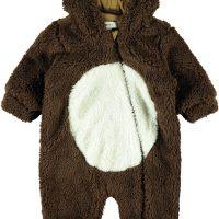 Name it Mudolph Teddy Vinterdress Baby, Bronze Brown 74-80