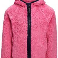 Nordbjørn Ines Hood Fleecejakke, Aurora Pink, 110-116
