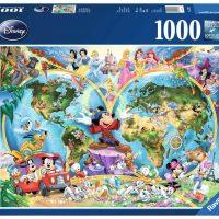 Puslespill 1000 Verdenskart Disney Ravensburger