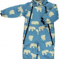Småfolk Dress, Winter Blue 1-2 år