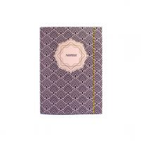 Strikkmappe Notis A4 burgunder/rosa