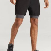 Studio Total Athleisure Shorts With Underpants Svart