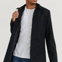 Studio Total Frakk Stand Collar Coat Svart