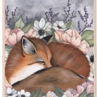That's Mine Poster Flower Field Fox 30x40