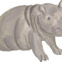 That's Mine Wallsticker Hippo Baby