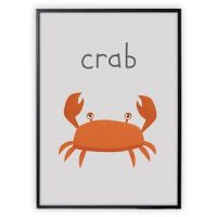 XO Posters Poster Crab 30x40 cm