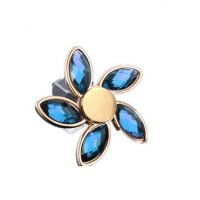 Zinc Alloy Five leaves Rotating Fidget Hand Spinner ADHD Autism Reduce Stress Toys
