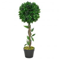vidaXL Kunstig laurbærtre med potte grønn 70 cm