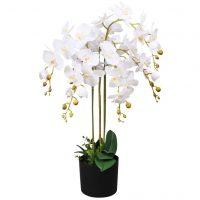 vidaXL Kunstig orkidè med potte 75 cm hvit
