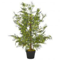 vidaXL Kunstig sypressplante med potte grønn 90 cm