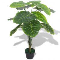 vidaXL Kunstig taroplanten med potte 70 cm grønn