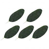 vidaXL Kunstige Banantreblader 5 stk grønn 50 cm