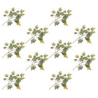 vidaXL Kunstige lønnetreblader 10 stk grønn 75 cm