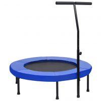 vidaXL Trim-trampoline med håndtak og sikkerhetspute 102 cm