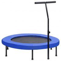 vidaXL Trim-trampoline med håndtak og sikkerhetspute 122 cm