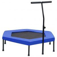 vidaXL Trim-trampoline med håndtak og sikkerhetspute sekskantet 122 cm