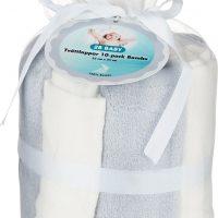 2B Baby Vaskekluter Bambus 10-pack, Grå