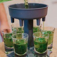 6 Shot Glass Dispenser Holder Wine Whisky Beer Dispenser Rack Bar Accessories Caddy Liquor Dispenser Party Games Drinkin