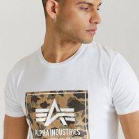 Alpha Industries T-shirt Camo Block T Hvit