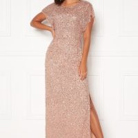 AngelEye Allover Sequin Maxi Dress Cameo Rose S (UK10)