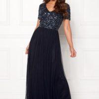 AngelEye Short Sleeve Sequin Dress Navy M (UK12)