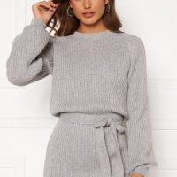 BUBBLEROOM Amira knitted dress Grey melange XL