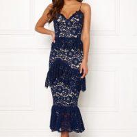 BUBBLEROOM Carolina Gynning flouncy lace dress Dark blue 34